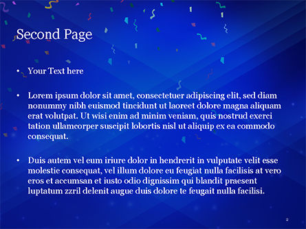 Carnival Mask PowerPoint Template, Slide 2, 15342, Holiday/Special Occasion — PoweredTemplate.com
