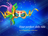 Holiday/Special Occasion: Carnival Mask PowerPoint Template #15342
