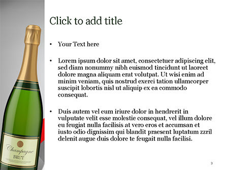 Celebration with Champagne PowerPoint Template, Slide 3, 15343, Holiday/Special Occasion — PoweredTemplate.com