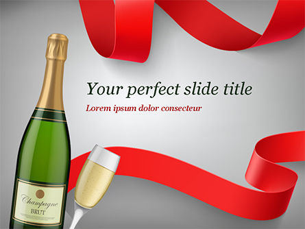 Holiday/Special Occasion: Celebration with Champagne PowerPoint Template #15343
