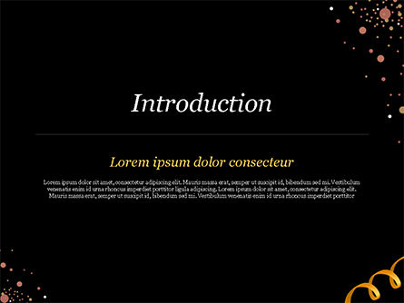 Golden Festive Ribbons PowerPoint Template, Slide 3, 15344, Holiday/Special Occasion — PoweredTemplate.com
