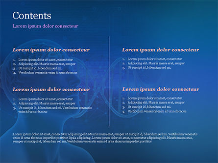 Brain Work Concept PowerPoint Template, Slide 2, 15347, Medical — PoweredTemplate.com
