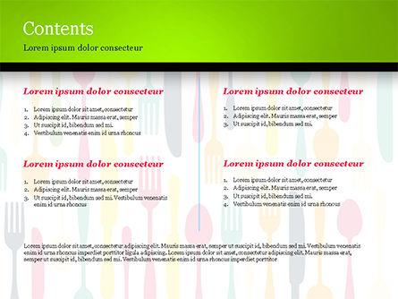 Cutlery Pattern PowerPoint Template, Slide 2, 15348, Food & Beverage — PoweredTemplate.com