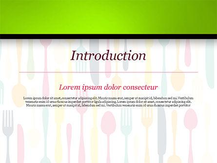 Cutlery Pattern PowerPoint Template, Slide 3, 15348, Food & Beverage — PoweredTemplate.com