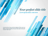 Abstract/Textures: Abstraction with Blue Parallelograms PowerPoint Template #15349