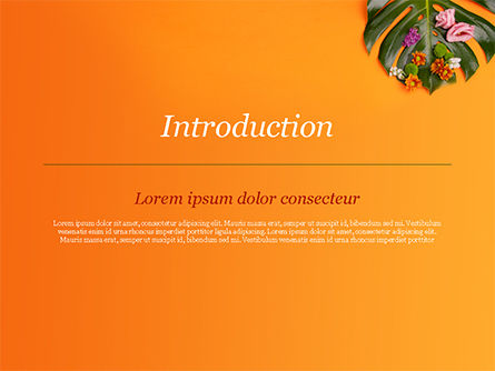 Monstera Leaves and Flowers PowerPoint Template, Slide 3, 15350, Nature & Environment — PoweredTemplate.com