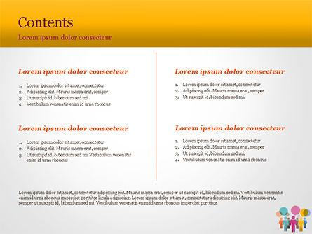Humans with Speech Bubbles PowerPoint Template, Slide 2, 15352, Business Concepts — PoweredTemplate.com