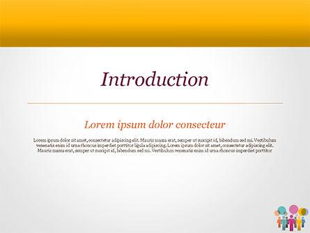 Humans with Speech Bubbles PowerPoint Template, Slide 3, 15352, Business Concepts — PoweredTemplate.com