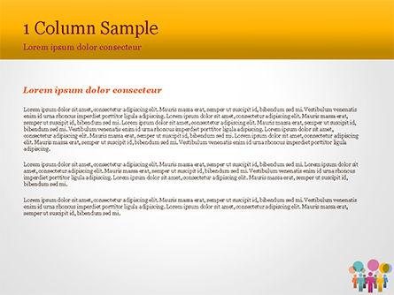 Humans with Speech Bubbles PowerPoint Template, Slide 4, 15352, Business Concepts — PoweredTemplate.com