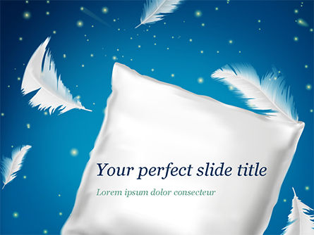 Pillow with Feathers PowerPoint Template, 15353, Careers/Industry — PoweredTemplate.com