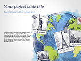 Careers/Industry: World with Famous Monuments in Hand Drawn Style PowerPoint Template #15354