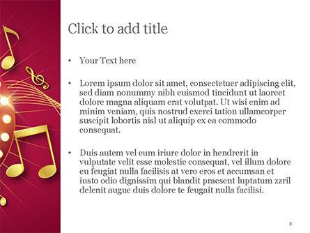 Music Show Background PowerPoint Template, Slide 3, 15355, Art & Entertainment — PoweredTemplate.com