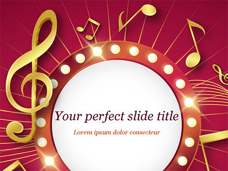Art & Entertainment: Music Show Background PowerPoint Template #15355