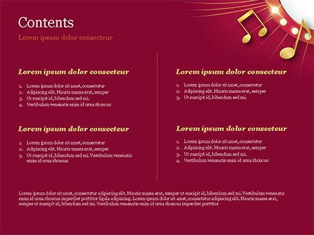 Music Show Background PowerPoint Template, Slide 2, 15355, Art & Entertainment — PoweredTemplate.com