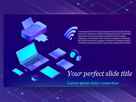Technology and Science: Modern Electronic Devices PowerPoint Template #15356