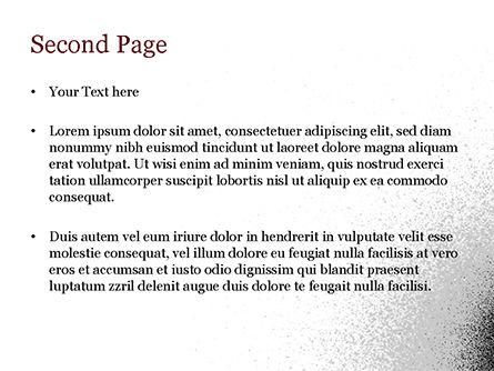 Black Dots PowerPoint Template, Slide 2, 15358, Abstract/Textures — PoweredTemplate.com