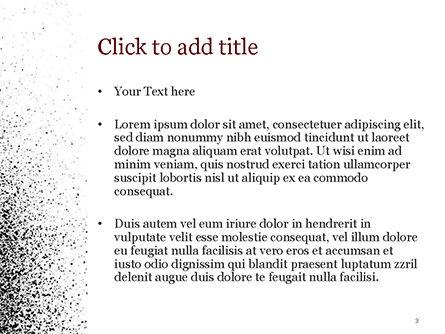 Black Dots PowerPoint Template, Slide 3, 15358, Abstract/Textures — PoweredTemplate.com