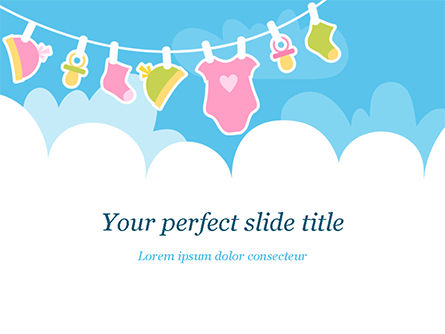 Holiday/Special Occasion: Baby Clothes Illustration PowerPoint Template #15359