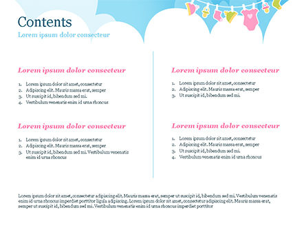 Baby Clothes Illustration PowerPoint Template, Slide 2, 15359, Holiday/Special Occasion — PoweredTemplate.com