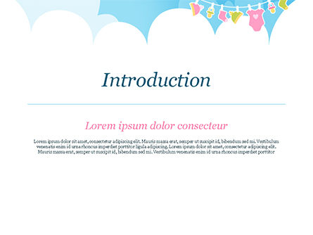 Baby Clothes Illustration PowerPoint Template, Slide 3, 15359, Holiday/Special Occasion — PoweredTemplate.com