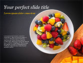 Food & Beverage: Fruit Salad PowerPoint Template #15360