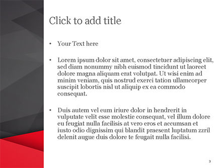 Red and Black Polygonal Background PowerPoint Template, Slide 3, 15361, Abstract/Textures — PoweredTemplate.com