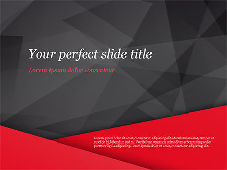 Red And Black Polygonal Background Free Presentation
