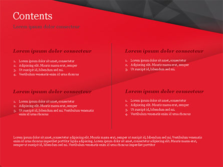 Red and Black Polygonal Background PowerPoint Template, Slide 2, 15361, Abstract/Textures — PoweredTemplate.com