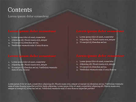 Red Shield PowerPoint Template, Slide 2, 15362, Careers/Industry — PoweredTemplate.com