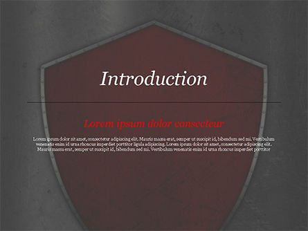 Red Shield PowerPoint Template, Slide 3, 15362, Careers/Industry — PoweredTemplate.com