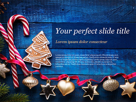 Christmas Decorations PowerPoint Template, 15363, Holiday/Special Occasion — PoweredTemplate.com