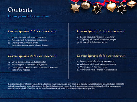 Christmas Decorations PowerPoint Template, Slide 2, 15363, Holiday/Special Occasion — PoweredTemplate.com