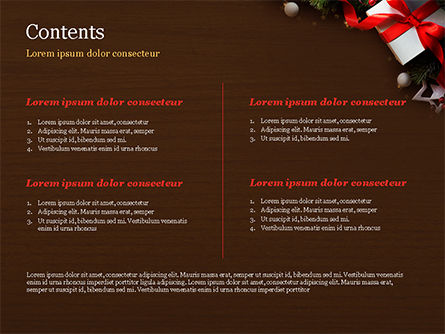 Christmas Gift Box PowerPoint Template, Slide 2, 15364, Holiday/Special Occasion — PoweredTemplate.com