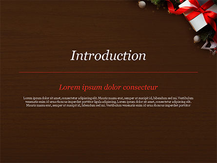 Christmas Gift Box PowerPoint Template, Slide 3, 15364, Holiday/Special Occasion — PoweredTemplate.com