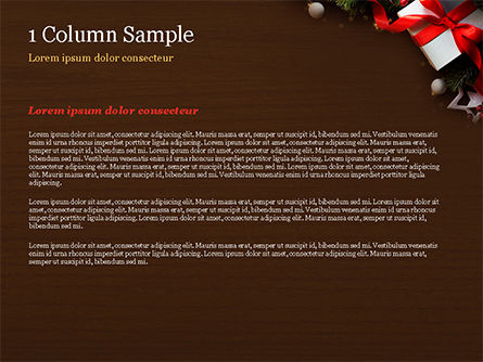 Christmas Gift Box PowerPoint Template, Slide 4, 15364, Holiday/Special Occasion — PoweredTemplate.com