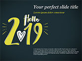 Holiday/Special Occasion: Hello 2019 PowerPoint Template #15365