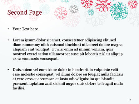 Colorful Snowflakes Background PowerPoint Template, Slide 2, 15366, Abstract/Textures — PoweredTemplate.com