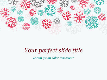 Colorful Snowflakes Background PowerPoint Template, 15366, Abstract/Textures — PoweredTemplate.com