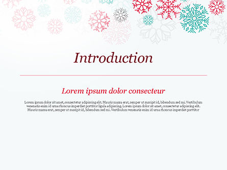 Colorful Snowflakes Background PowerPoint Template, Slide 3, 15366, Abstract/Textures — PoweredTemplate.com