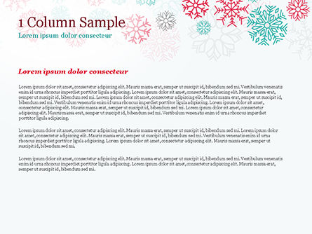 Colorful Snowflakes Background PowerPoint Template, Slide 4, 15366, Abstract/Textures — PoweredTemplate.com