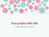 Abstract/Textures: Colorful Snowflakes Background PowerPoint Template #15366