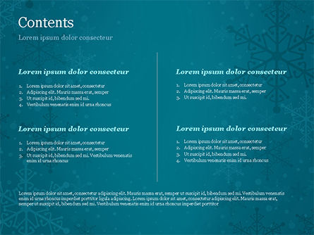 Snowflakes Crystal Balls PowerPoint Template, Slide 2, 15367, Holiday/Special Occasion — PoweredTemplate.com