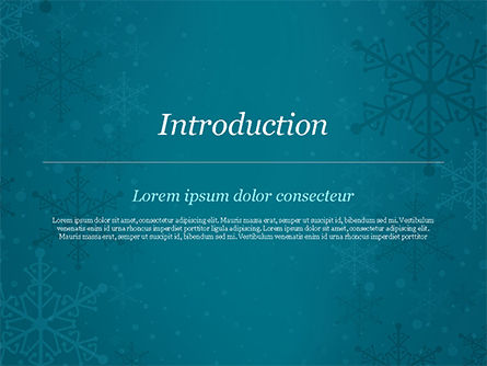 Snowflakes Crystal Balls PowerPoint Template, Slide 3, 15367, Holiday/Special Occasion — PoweredTemplate.com