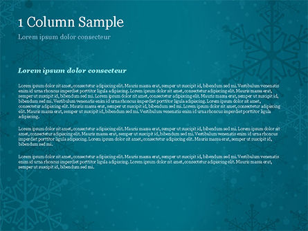 Snowflakes Crystal Balls PowerPoint Template, Slide 4, 15367, Holiday/Special Occasion — PoweredTemplate.com