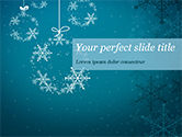 Holiday/Special Occasion: Snowflakes Crystal Balls PowerPoint Template #15367