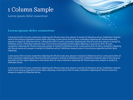 Drinking Water Supply PowerPoint Template, Slide 4, 15369, Nature & Environment — PoweredTemplate.com