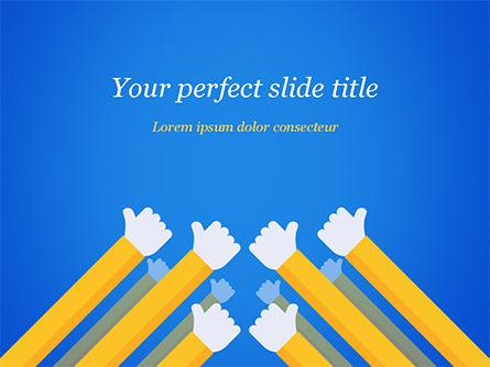 Congratulations Concept PowerPoint Template, 15370, Business Concepts — PoweredTemplate.com