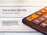 Financial/Accounting: Calculator PowerPoint Template #15371