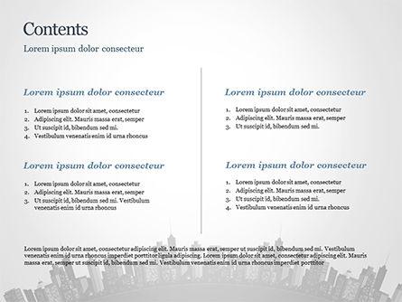 Cityscape Silhouette PowerPoint Template, Slide 2, 15372, Construction — PoweredTemplate.com