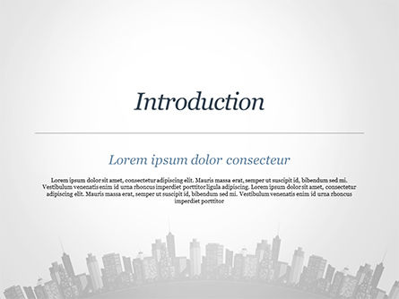 Cityscape Silhouette PowerPoint Template, Slide 3, 15372, Construction — PoweredTemplate.com